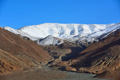 Tibet Snow mountain sacred lake cloud Royalty Free Stock Photo