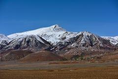 Tibet Snow mountain sacred lake cloud Stock Images