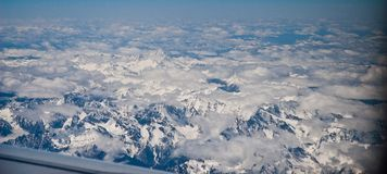 Tibet snow moutain in air Royalty Free Stock Photo