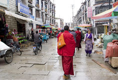 Tibet street Stock Photography