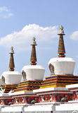 Tibet stupa. Stupa in tibet temple, white tower Stock Photography