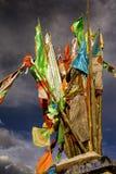 Tibet, stupa bovenop een heuvel, boeddhisme in China royalty-vrije stock foto