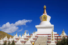 Tibet stupa Stock Photo