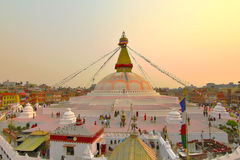 Boudhanath kathmandu nepal Stock Photo