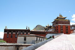 Tibet temple building. This is the Tibet Tashilhunpo inside the building Stock Photo