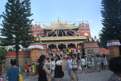 The Tibet temple in Shenzhen Folk Village Park,China,Asia Stock Photo