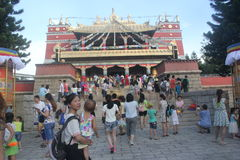 The Tibet temple in Shenzhen Folk Village Park,China,Asia Royalty Free Stock Photography