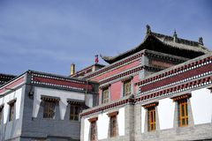 Tibet temple,Ta'er Lamasery. In China Royalty Free Stock Photo
