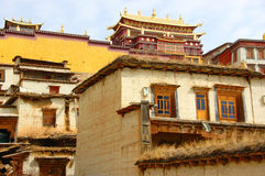 Tibet temple in Zhongdian. Songzanlin Monastery in Zhongdian, China Stock Image
