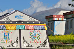 Tibet tents and houses Stock Photo