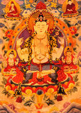 Tibet traditional art. Tibet culture, traditional artwork, named Tangka, with Buddha and religion symbol on it Royalty Free Stock Image