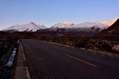 Tibet väg Royaltyfria Bilder