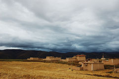 A Tibet village on the meadow Royalty Free Stock Images
