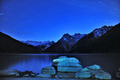 Tibet - XINLUHAI Nacht Stockfotos