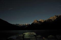 Tibet - XINLUHAI Nacht Lizenzfreies Stockfoto