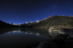 Tibet - XINLUHAI Night Royalty Free Stock Image