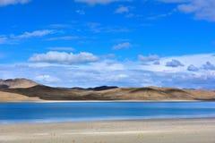 Tibet Yamdrok lake snow mountain lake Yangzhuoyongcuo Stock Image