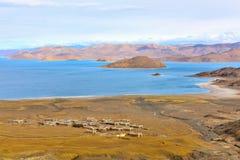 Tibet Yamdrok lake village Stock Images