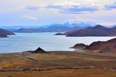 Tibet Yamdrok lake village Royalty Free Stock Photos