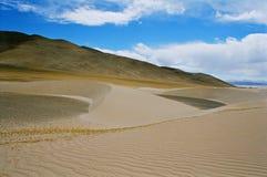 Tibet, zand-heuvels. Stock Afbeeldingen