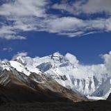 Tibet: zet het meest everest op Royalty-vrije Stock Foto