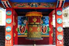 Tibetaans gebedwiel in Leh, Ladakh, India Royalty-vrije Stock Foto