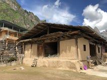 Tibetaans huis in de provincies royalty-vrije stock foto