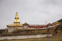Tibetaans Klooster in de Wolken Stock Foto's