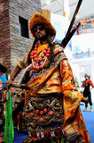 Tibetaans in kostuum, 2013 WCIF Stock Foto's