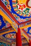 Tibetaans tempelplafond Stock Foto's