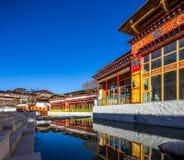 Tibetaanse architectuur Stock Fotografie