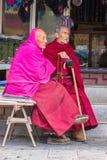 Tibetaanse bejaarden Royalty-vrije Stock Foto's