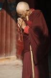 Tibetaanse Boeddhistische Non stock foto's