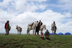 Tibetaanse herders Stock Foto
