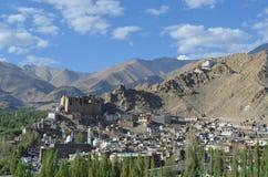 Tibetaanse Huizen in de Waaier India van Himalayagebergte Stock Afbeeldingen