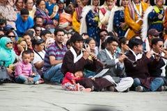 Tibetaanse musici die volksmuziek spelen royalty-vrije stock afbeeldingen