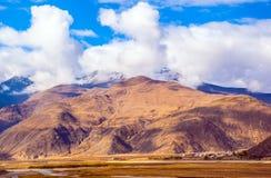 Tibetaanse plateauscène royalty-vrije stock fotografie