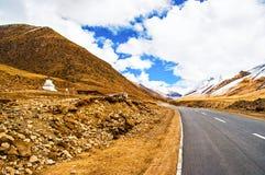 Tibetaanse plateauscène stock foto's