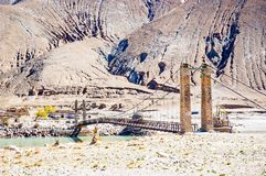 Tibetaanse plateauscène royalty-vrije stock afbeelding