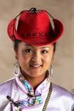 Tibetaanse veedrijfster stock foto
