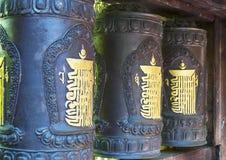 Tibetaanse wielen Stock Foto