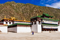 Tibetan Academy, Labrang Lamasery. Labrang Lamasery is one of six most important temple in Tibetan Shamanism and Kept in the monastery are all kinds of sutras Stock Photos