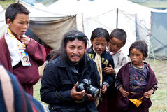 Tibetan actor Gurgon Kyap in Dolpo, Nepal Stock Photo