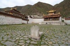 Tibetan akademi, Labrang Lamasery Arkivbild