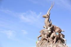 Tibetan antelope statue Stock Photo