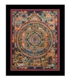 tibetan antik tangka Royaltyfri Bild
