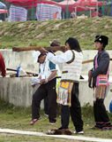 Tibetan Archery Stock Image
