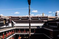 Tibetan Architecture. Tibetan Building in Tibetan Temple Stock Photo