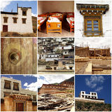 Tibetan architecture in China Royalty Free Stock Image