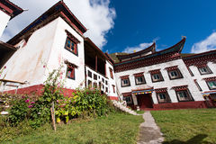 Tibetan architecture. In the plateau of the sun Stock Photo